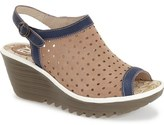 Fly London 'Yile' Perforated Slingback Wedge (Women)