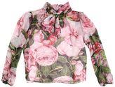 Dolce & Gabbana Roses Print Silk Chiffon Shirt