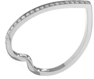 Repossi Antifer 18K White Gold & Diamond Heart Ring