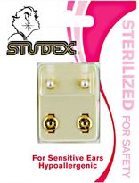 Studex White Pearl Sterilized Piercing Earrings