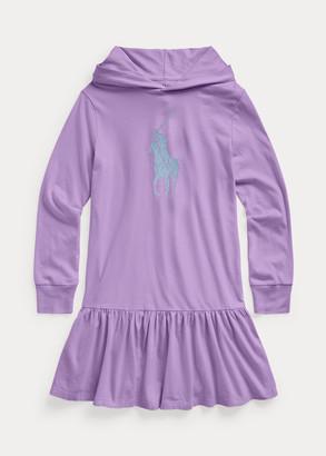 Ralph Lauren Big Pony Cotton Jersey Hooded Dress
