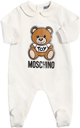 Moschino Cotton Sweat Romper W/ Toy Patch