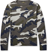 Valentino - Camouflage-intarsia Cashmere-blend Sweater