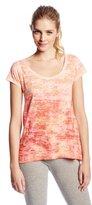 Calvin Klein Women's Cut-Out Back Sublimation Burnout Tee