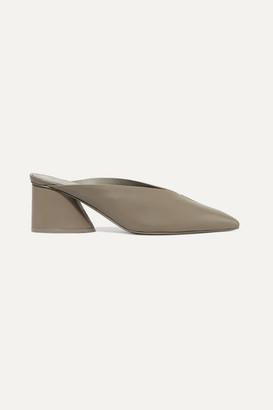 Mercedes Castillo Natti Leather Mules - Gray