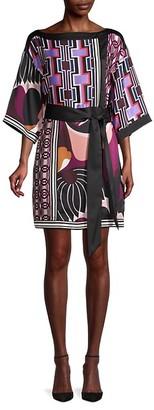 Trina Turk Printed Sheath Mini Dress