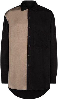 Song For The Mute Two-Tone Button-Up Shirt