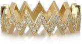 18-karat gold diamond zigzag ring