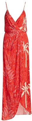Johanna Ortiz Printed Wrap Maxi Dress