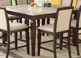 Acme Agatha White Marble Top Counter Height Table, Espresso Finish