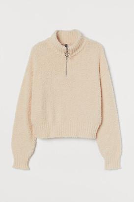 H&M Fluffy Sweater - Beige