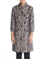 Cinzia Rocca Double-Breasted Zebra-Print Coat