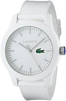 Lacoste Men's 2010762 Lacoste.12.12 White Watch with Textured Band