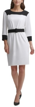 Calvin Klein Colorblocked Sheath Dress