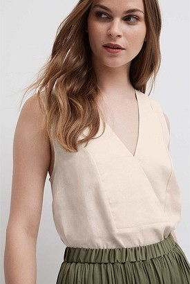 Witchery Linen Splice Tank