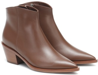 Gianvito Rossi Frankie leather ankle boots