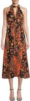 Ava & Aiden Floral Ruffle Halter Dress