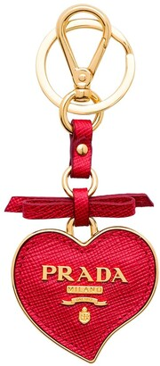 Prada Trick heart-shaped keychain