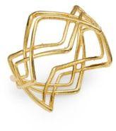 Gorjana Mesa 18K Goldplated Crossover Ring