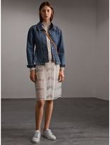 Burberry Puff-sleeve Denim Jacket