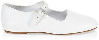 The Row Ava Leather Flats