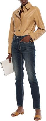 Current/Elliott High-rise Straight-leg Jeans