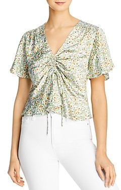 Lucy Paris Floral Printed Gathered Top - 100% Exclusive
