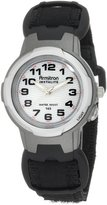 Armitron Women's 256347BLK Easy to Read Instalite Black Nylon Velcro Strap Sport Watch