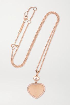 Chopard + 007 Happy Hearts Golden Hearts 18-karat Rose Gold Diamond Necklace - one size