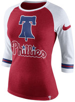 Nike Women's Philadelphia Phillies Tri Raglan T-Shirt