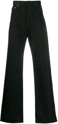 Yohji Yamamoto Logo-Print Flared Trousers