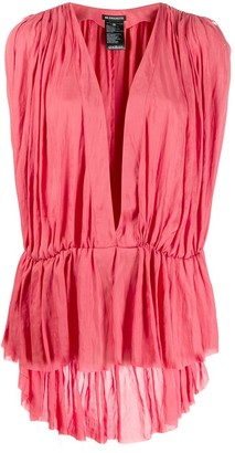 Ann Demeulemeester deep V-neck blouse