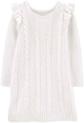 Carter's Carter Big & Littler Girls Cable-Knit Sweater Dress