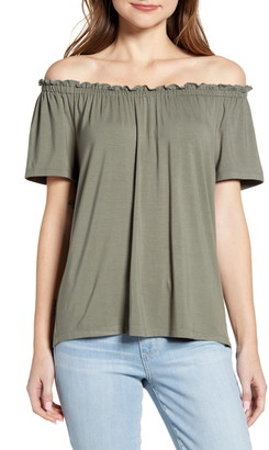 Gibson x International Women's Day The Mom in Style Off the Shoulder Knit Top