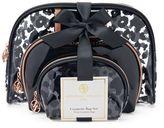 Adrienne Vittadini Studio 3-pc. Black & White Cosmetic Bag Gift Set