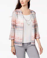 Alfred Dunner Lakeshore Drive Layered-Look Necklace Top