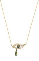 Ileana Makri Diamond, sapphire, tsavorite & gold necklace