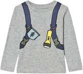Stella McCartney Grey Backpack Barley Long Sleeve T-Shirt