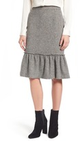 Halogen Ruffle Hem Pencil Skirt (Regular & Petite)