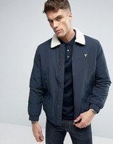 Lyle & Scott Fleece Lined Bomber Eagle Logo in Navy