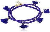 "Shashi Laila Crystal Cobalt Wrap Bracelet, 13.75"""