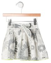 Little Marc Jacobs Girls' Floral Print Flare Skirt