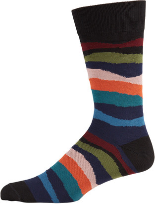 Paul Smith Men's Mountain Stripe Socks