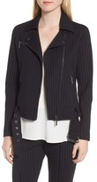 Kenneth Cole New York Women's Pinstripe Moto Jacket