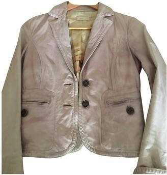 Pinko Purple Leather Jacket for Women Vintage