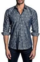 Jared Lang Trim Fit Flower Print Sport Shirt