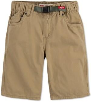 Levi's Big Boys 502 Regular-Tapered Fit Twill Camp Shorts