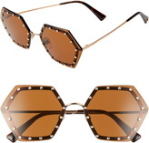 Valentino 62mm Oversize Studded Sunglasses