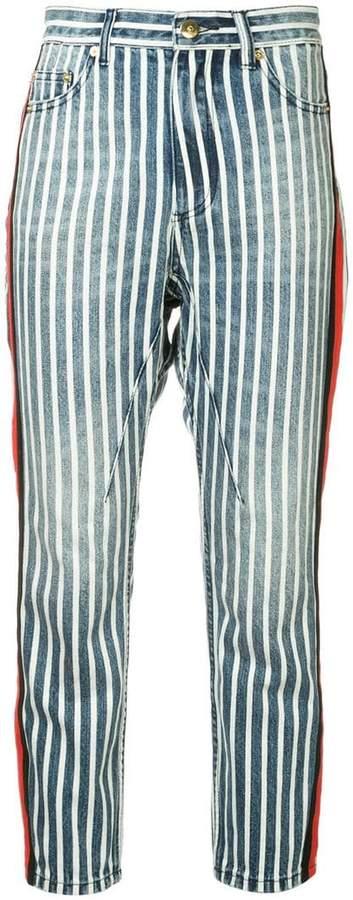 P.E Nation striped print jeans
