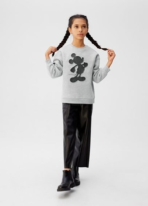 MANGO Mickey Mouse embossed sweatshirt